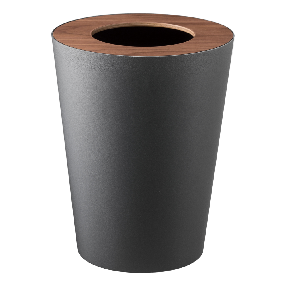 Round 1 85 Gallon Steel Trash Can Steel Wood Trash Can Waste Basket Trash And Recycling Bin