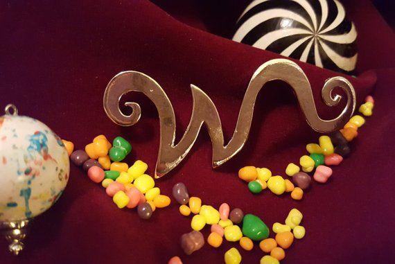 Willy Wonka W Brooch Tim Burton Charlie And The