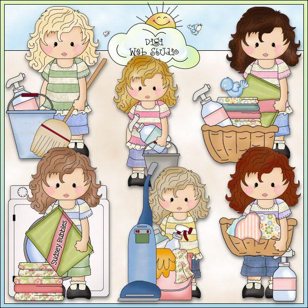 Felicity Jane Does Her Chores 1 - NE Cheryl Seslar Clip Art : Digi Web Studio, Clip Art, Printable Crafts & Digital Scrapbooking!