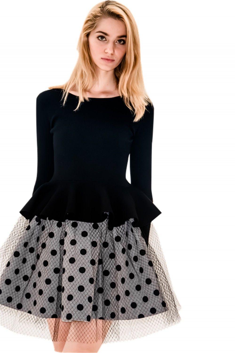 Queensly #dot #tulle #skirt - Shallowmint.com