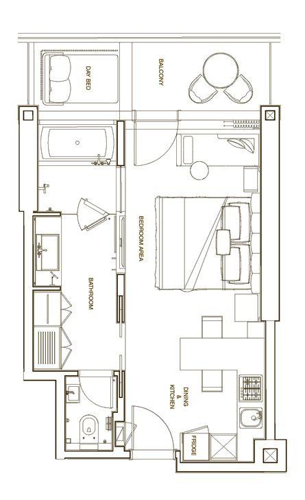 Langham Place Downtown Dubai Deluxe 47 84 Sq M 515 Sq F Cafe Floor Plan Hotel Floor Plan Hotel Room Plan