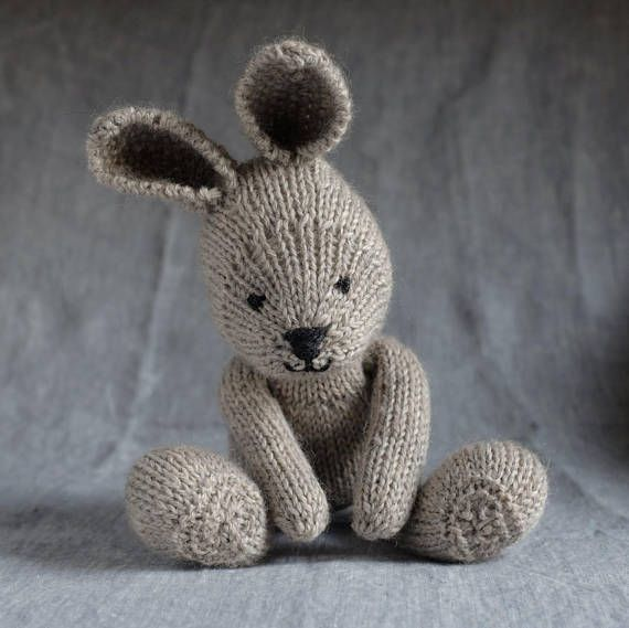 Heirloom Knitted Bunny Plush | Stuffed Animal, Soft Toy ...