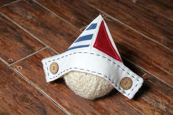 Newborn Sailor Hat Newspaper Hat Newborn by LorasBabyBoutique, $15.00