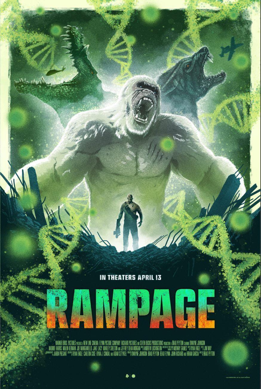 Rampage (2018) [874 x 1302] flims . Film, Apen