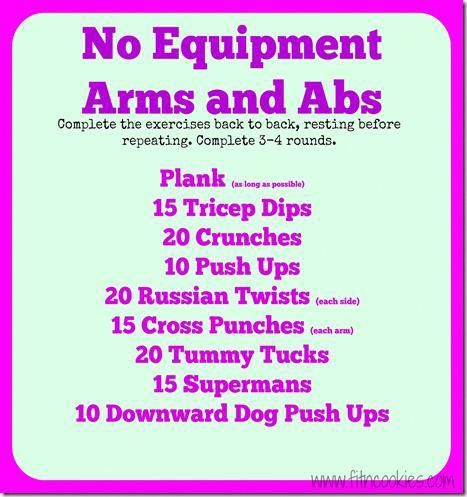 no equipment arms and abs workout