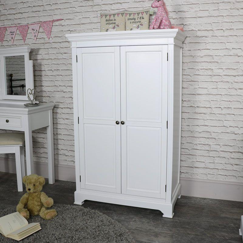 Best White Linen Closet Low Wardrobe Daventry White Range 400 x 300