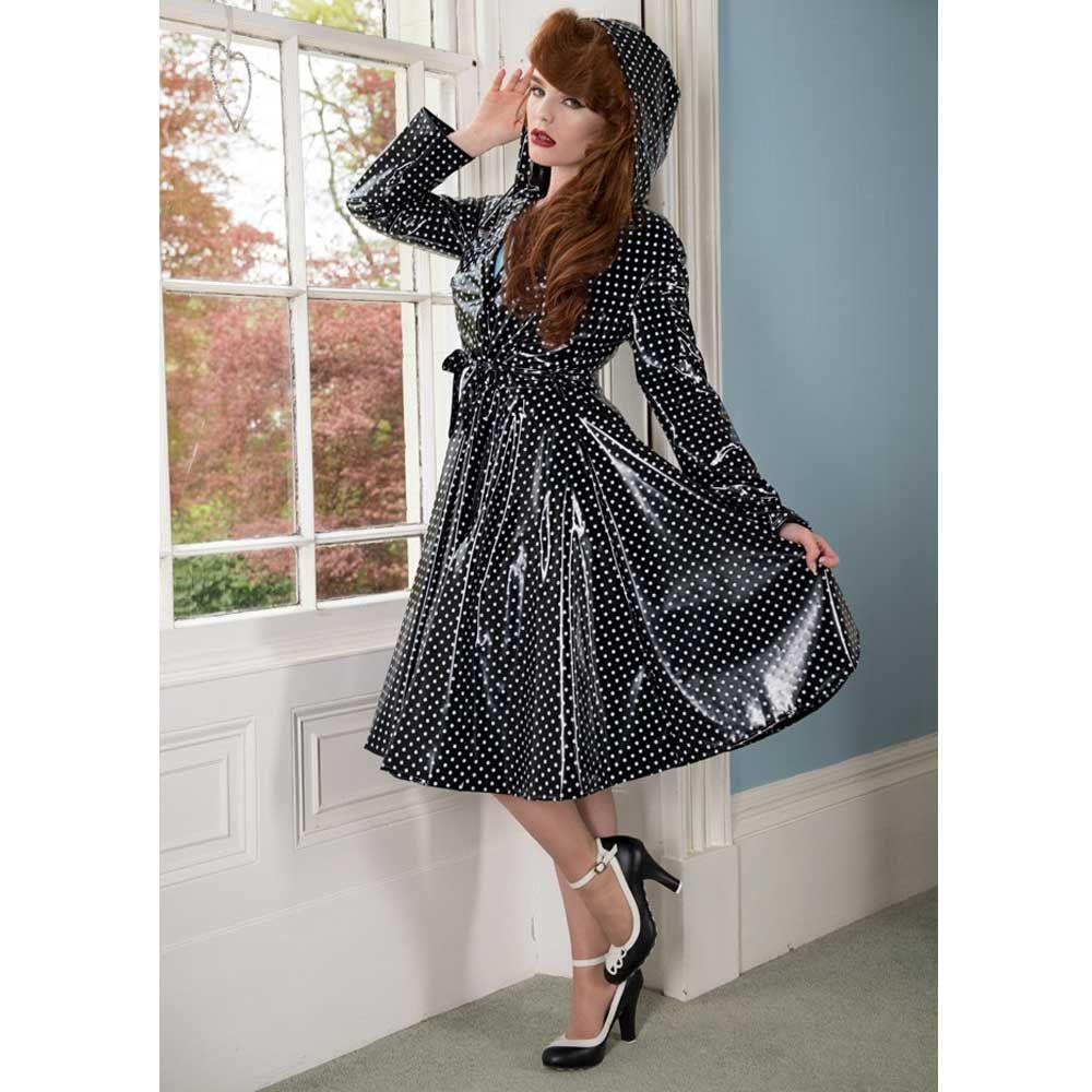 Elements Rainwear. Een lange vintage stijl regenjas met een