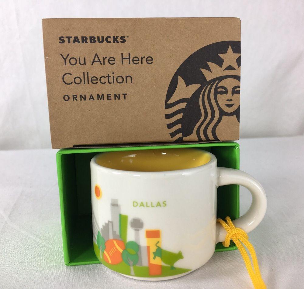 Starbucks Christmas Ornament You Are Here Collection Florida Mini 2Oz Coffee Mug