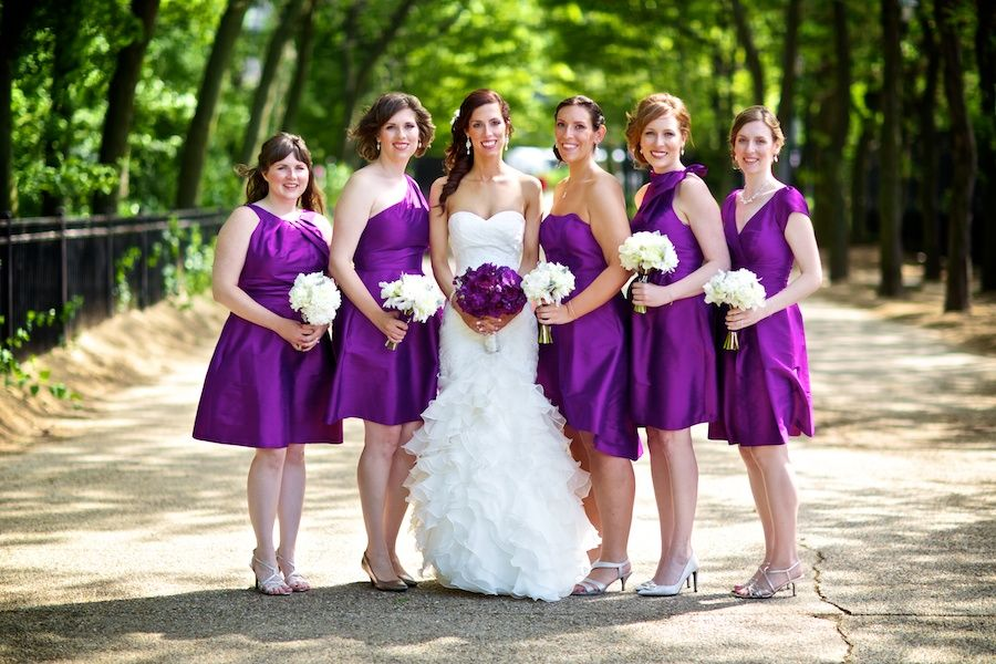bride and bridesmaid colors to be Similar - not quite so white for ...