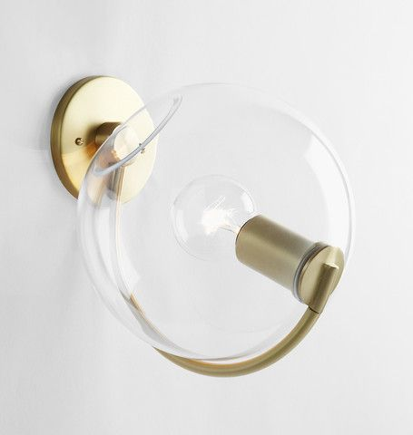 Sconce (Brushed brass/Clear)