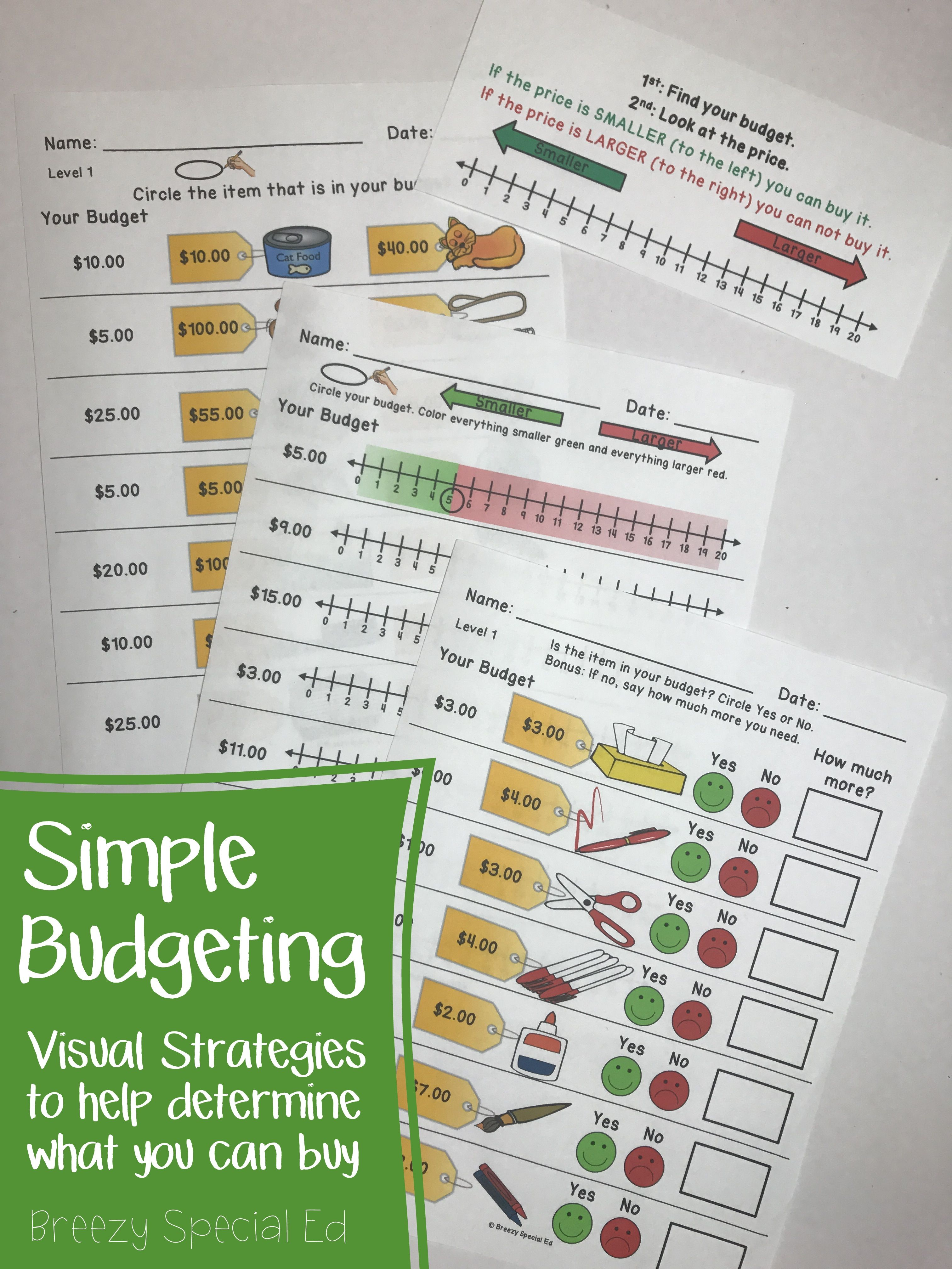 Budget Worksheets Do You Have Enough Money Life Skill Math For Special Ed Life Skills Life Skills Special Education Special Education [ 4032 x 3024 Pixel ]