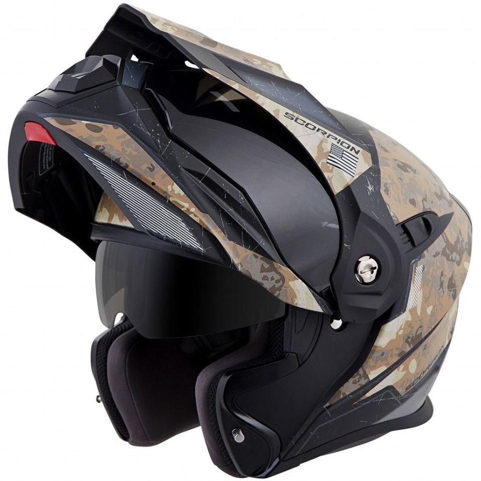 Scorpion EXOAT950 Battleflage Helmet Modular motorcycle