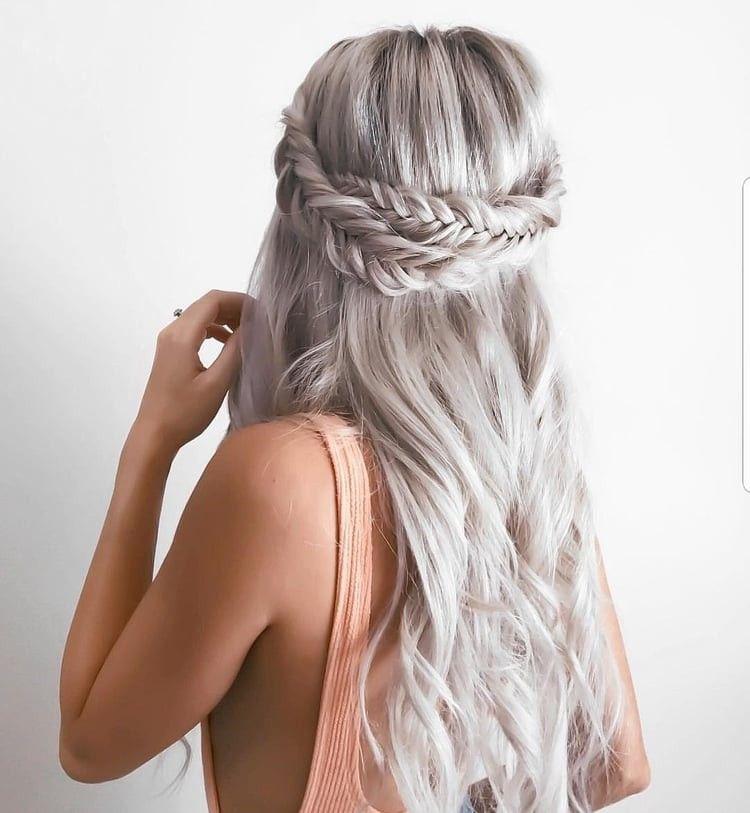 peinado largo trenzado #peinados # peinados trenzados