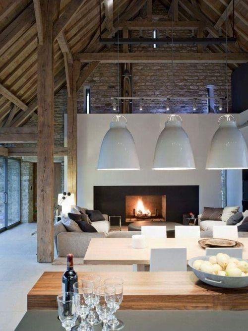 modernes makeover das alte bauernhaus bekommt einen neuen look durch interior elemente im industrial style credit home furniture - Modernes Wohnzimmer Des Innenarchitekturlebensraums