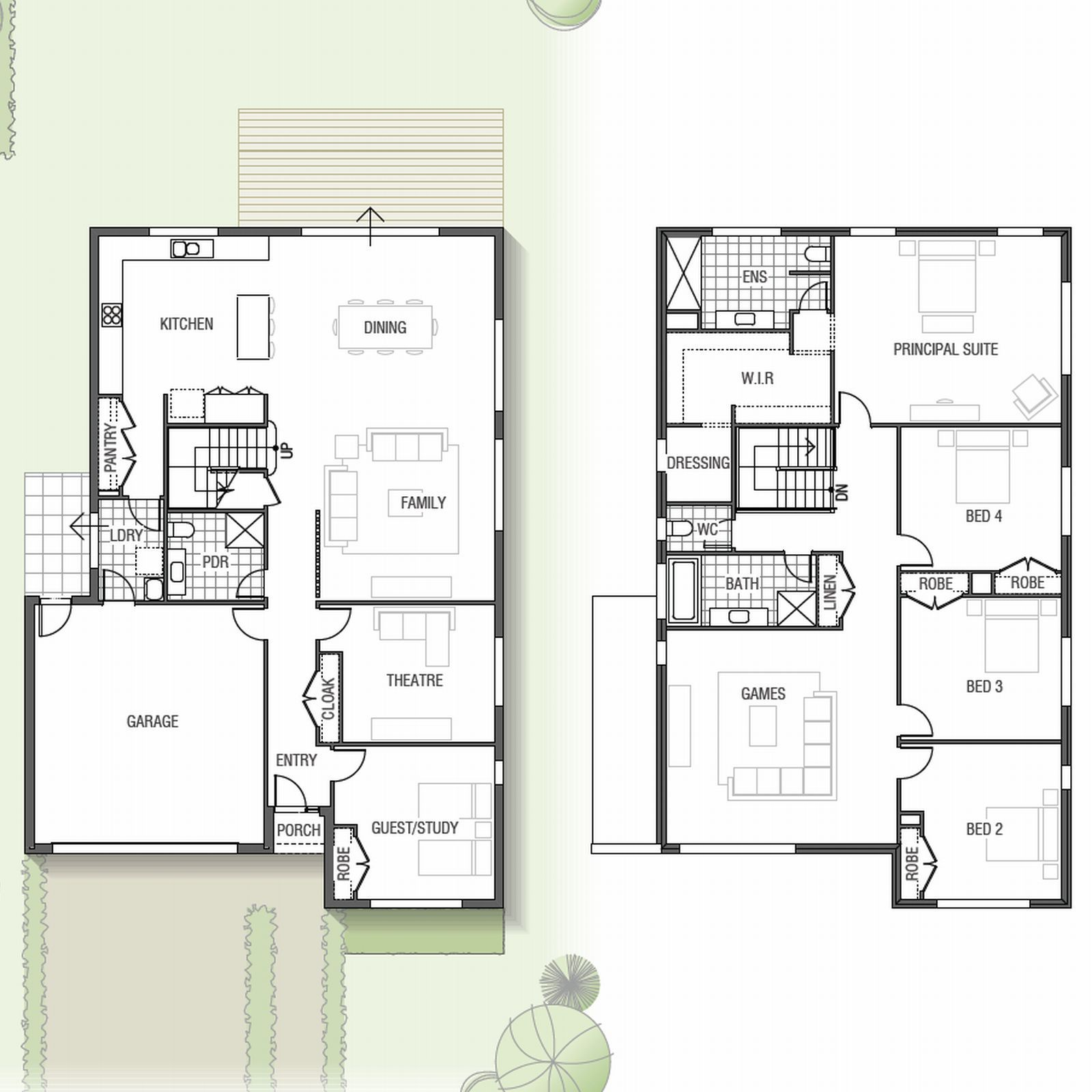 Two Storey Mapleton Home Design With Home