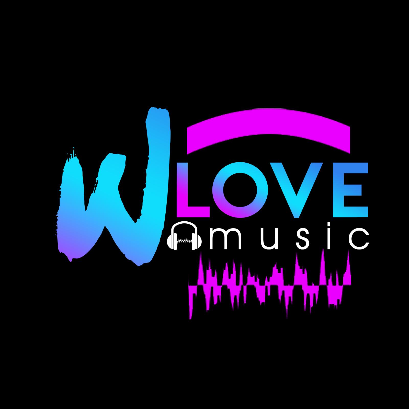 WLove Music logo Music logo, Music, Neon signs