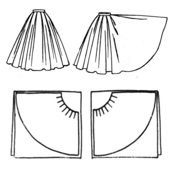 1950s Pleated Circle Skirt Pattern Waist 24 McCalls by CynicalGirl ...