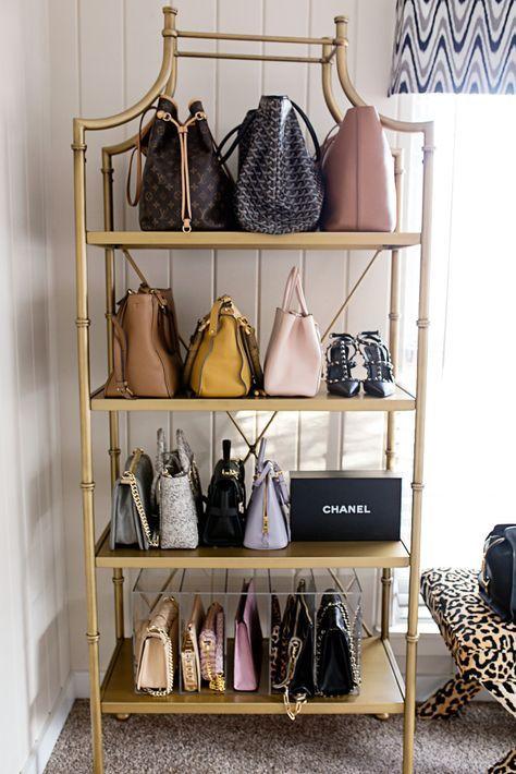 designer handbag storage pinterest schrank kleiderschrank und ankleidezimmer. Black Bedroom Furniture Sets. Home Design Ideas