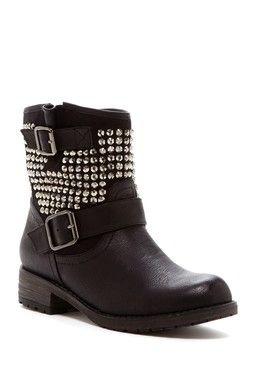 Jayda Crystal Embellished Boot in black