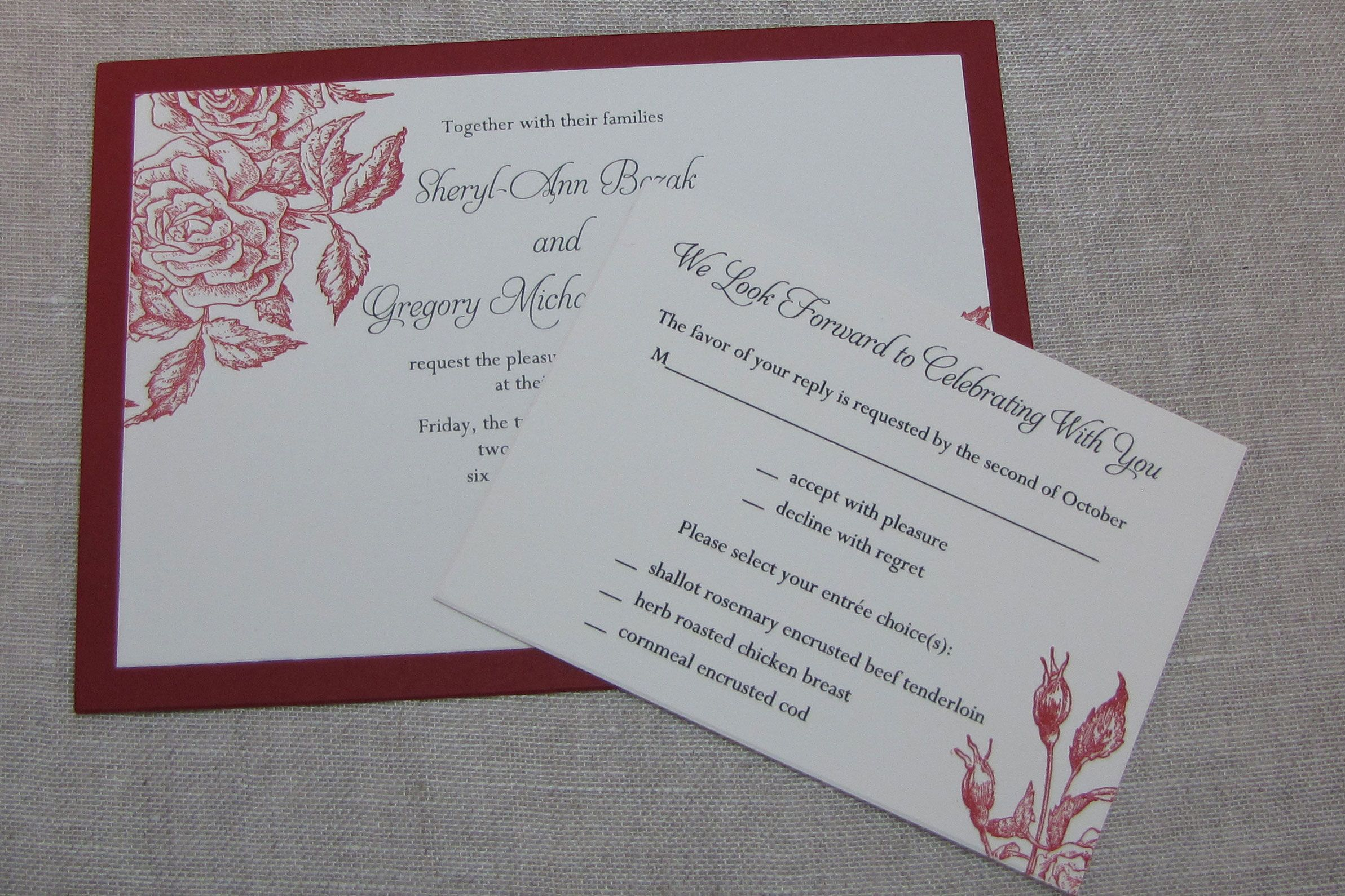 Custom Wedding Invitation Templates: Unique Handmade Wedding Invitations