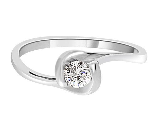 Twist Solitaire Diamond Ring SR1003   Bespoke Diamonds