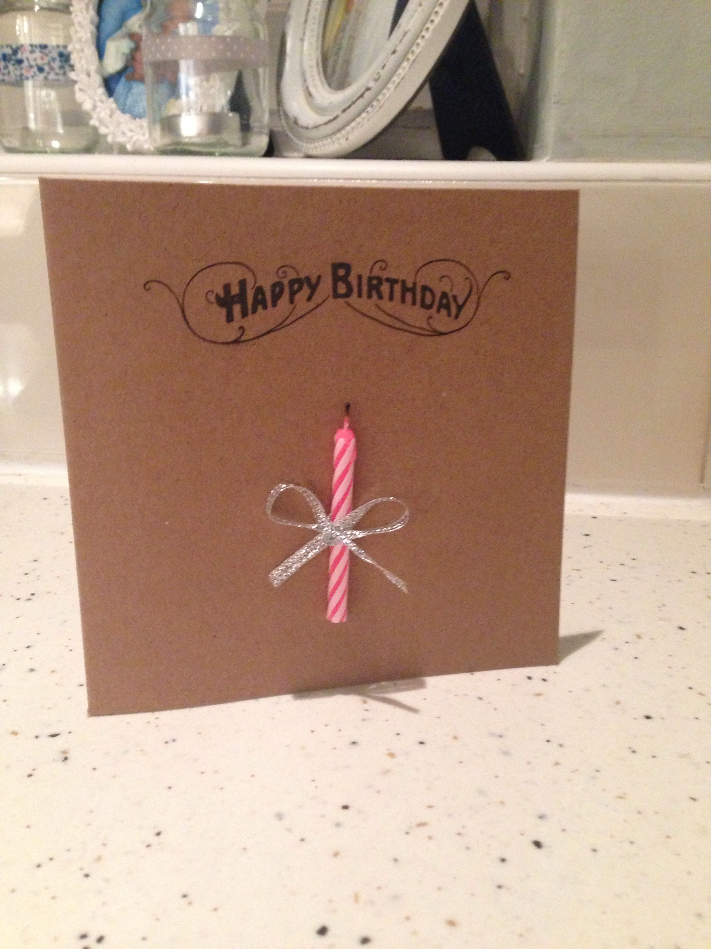 Hand made birthday card! Simple and sooo easy to make.