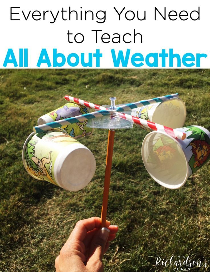 This top-rated resource for kindergarten and first grade classrooms has a teaching plan, printables, and hands-on weather activities for your weather unit.