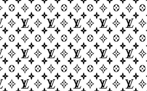 Louie V Print In Black And White White Louis Vuitton Louis Vuitton Pattern Louis Vuitton