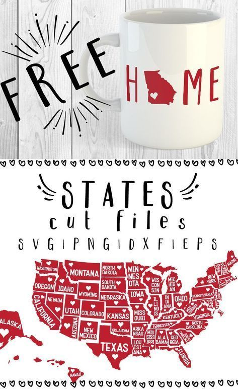FREE 51 States SVG, PNG, DXF & EPS by Caluya Design