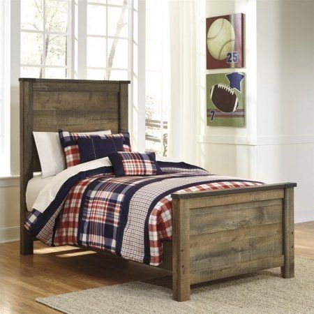 Free Shipping Buy Ashley Trinell Wood Twin Panel Bed In Brown At