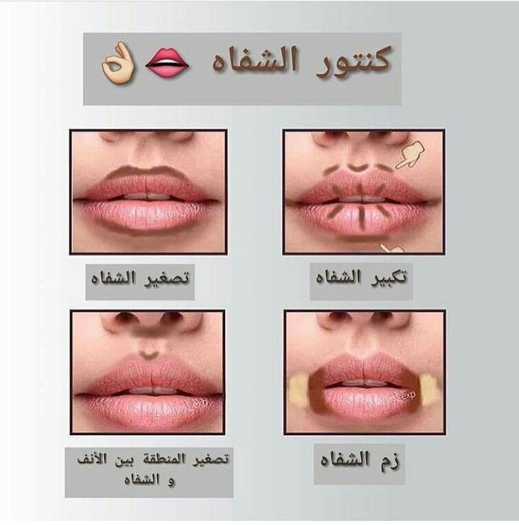 كنتور الشفاه Makeup Contour Tutorial Makeup Tutorial