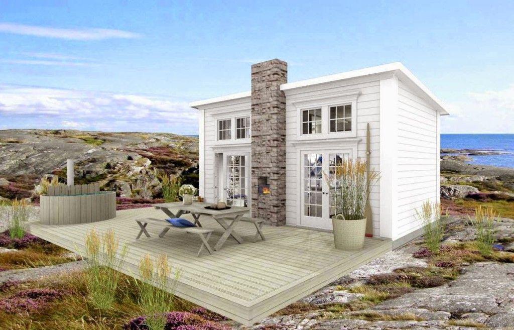 Dreams & Coffee25 kvm - Attefallshus - Attefallshus med loft från arkitektfirman Dreams & Coffee. För 5900 kronor kan du köpa komplett arkitekt- och konstruktionsritningar för detta hus i New England-stil.