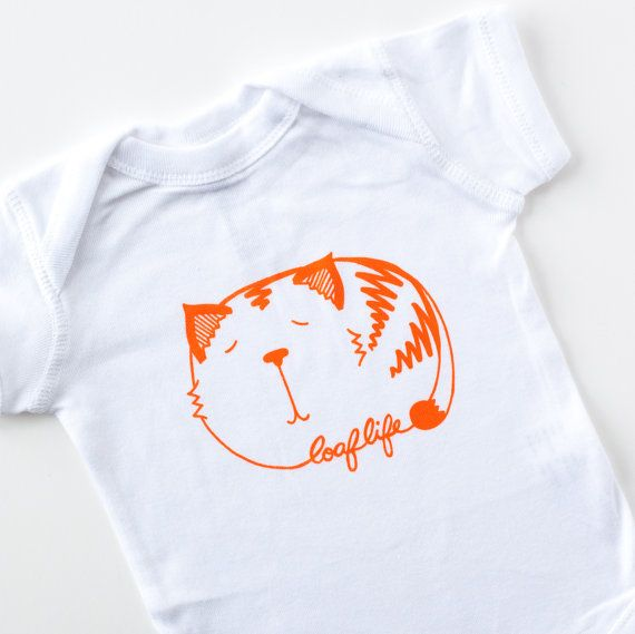 cat loaf baby onesie by exit343design on Etsy