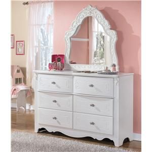 Signature Designashley Exquisite Dresser & Bedroom Mirror Mesmerizing Ashley Bedroom Dressers Inspiration Design