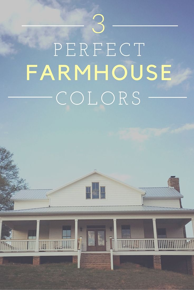 Farmhouse Exterior Colors white farmhouse exterior color choices - symmetrical exterior with