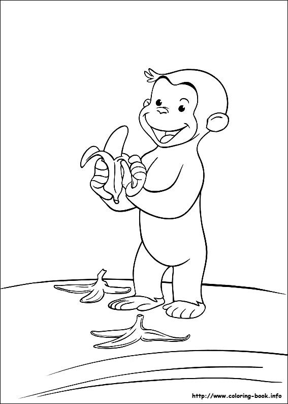 free printable Curious George coloring page | Kindergarten/1st ...