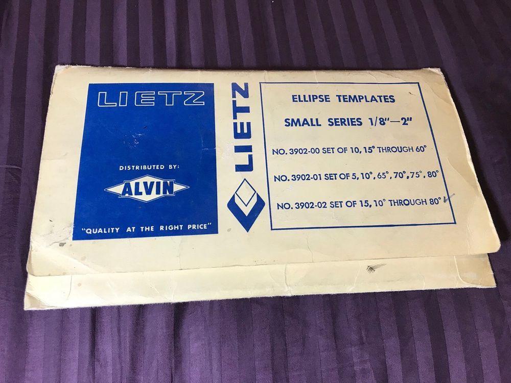 ALVIN 3902-02 SMALL SERIES ELLIPSE SET OF 15