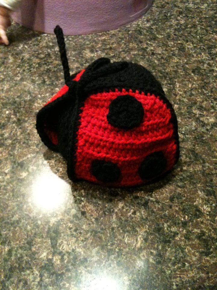 Ladybug crocheted hat