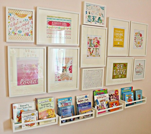 Kids Bedroom Library ideas to organize a mini kids library | decorative organizing