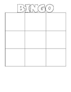 Blank Bingo Wordo Grids Bingo Card Template Bingo Template Blank Bingo Cards