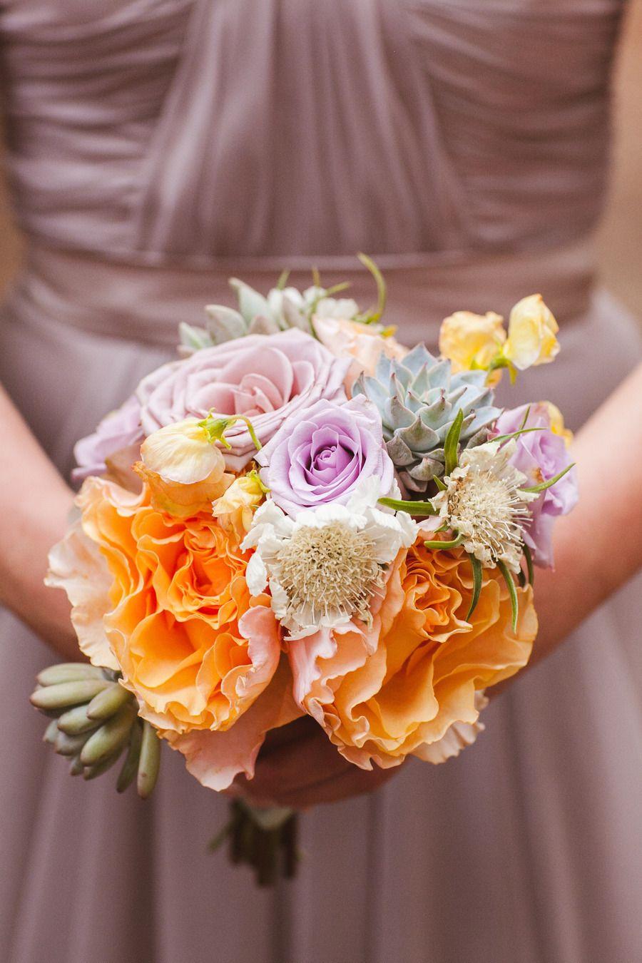 Букет невесты с флер-д-оранжевом