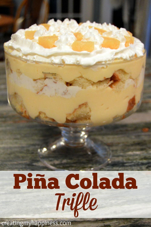Piña Colada Trifle #trifledesserts