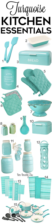 Turquoise Kitchen Decor & Appliances