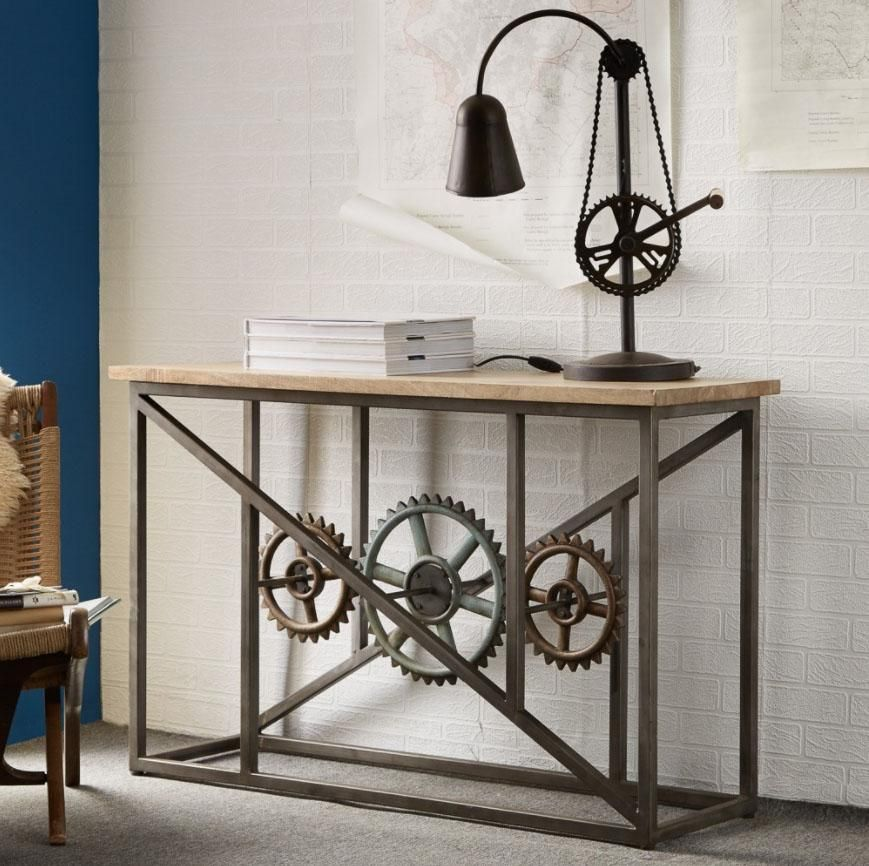 Evoke Console Table with Wheels by Indian Hub