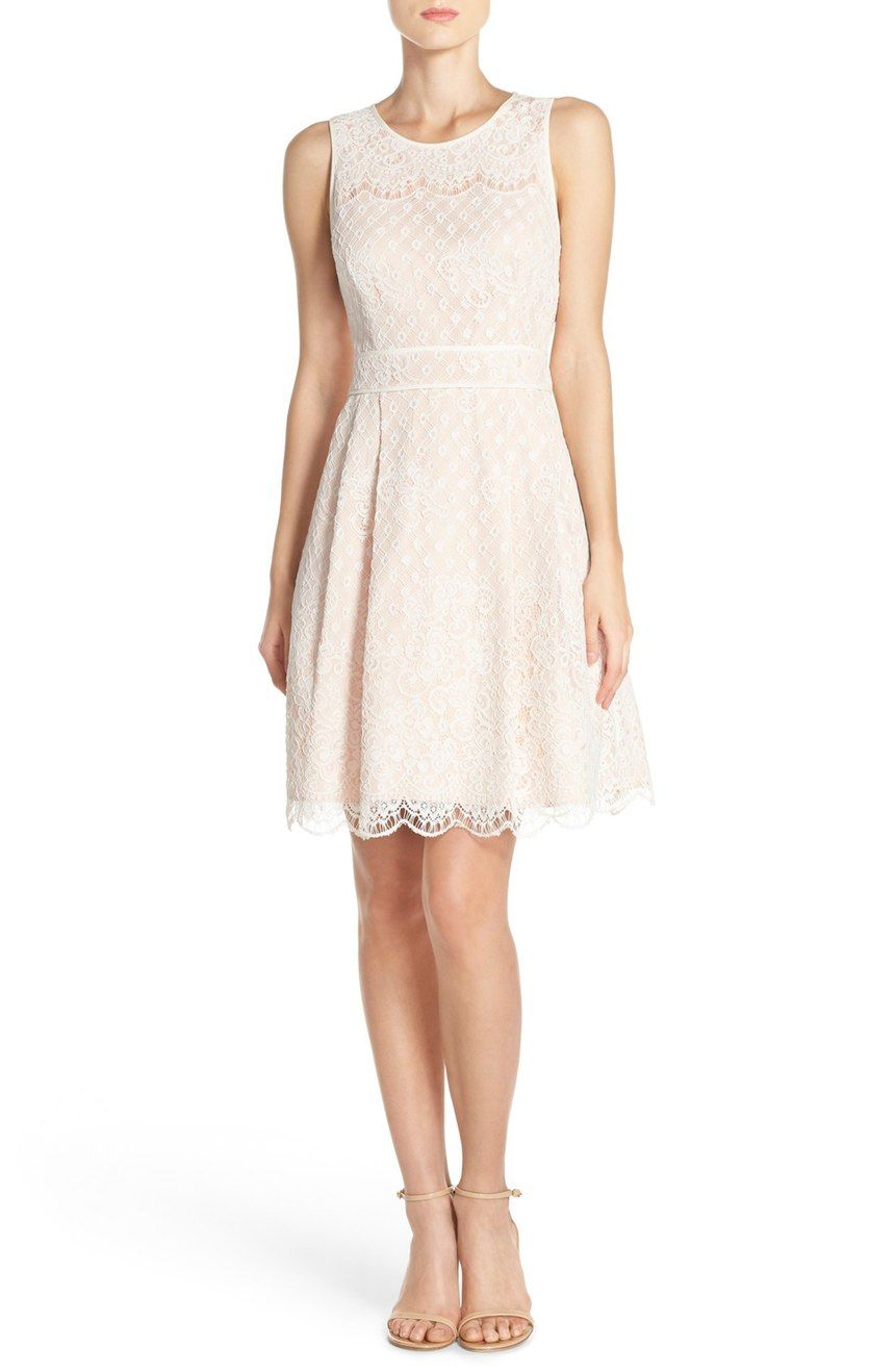 Vince Camuto Lace Fit Flare Dress Nordstrom Fit Flare Dress Dresses Nordstrom Dresses [ 1318 x 860 Pixel ]