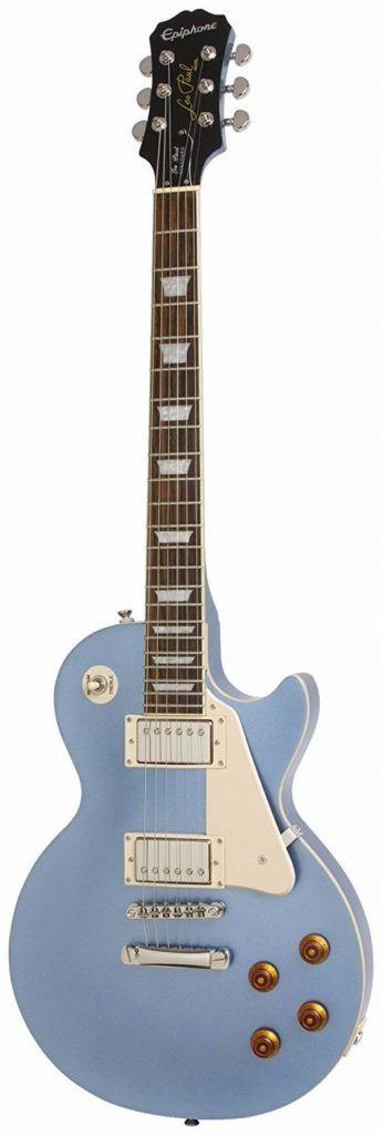 epiphone les paul standard electric guitar pelham blue best electric guitars under 500. Black Bedroom Furniture Sets. Home Design Ideas
