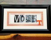 UT Vols alphabetography photo collage print
