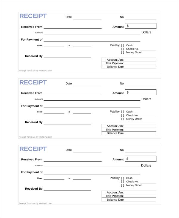 Official Receipt Template 28 Images Sle Official Receipt Template Receipt Templates