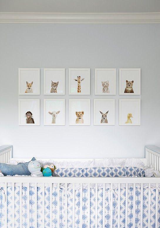 Baby Animals Nursery Home Decor