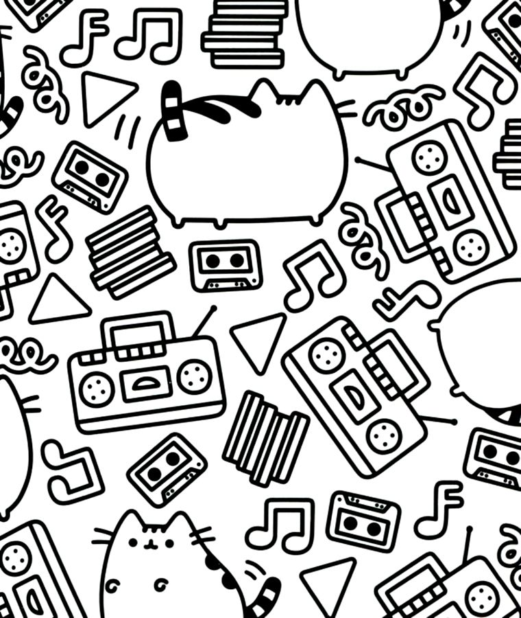 Pusheen | Coloring Book | Pinterest